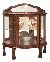 curved glass curio cabinets short rope twist curio cabinet antique curved glass curio cabinet