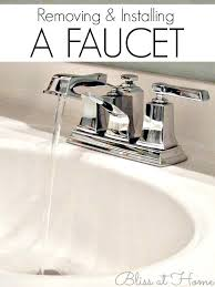 removing bathroom faucet removing an old faucet and installing a new bathroom faucet removing an old