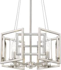 Marco Light Fixtures Golden Lighting 6068 4p Pw Marco Contemporary Pewter Mini Chandelier Lamp