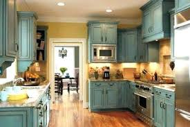 Photo 6 Of 8 Distressed Gray Kitchen Cabinets Chalk Paint Durability How To  With Durable Cabinet .