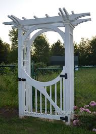 Small Picture A Garden Arbor with Inner Arch Bracing and Custom Gate Arbor
