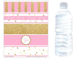 Decorating Water Bottles For Baby Shower Baby shower water bottle labels INSTANT DOWNLOAD Baby shower 48