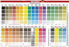 Mixol Tint Color Chart 9 Best Mixol Methods Images Color Mixing Color Color