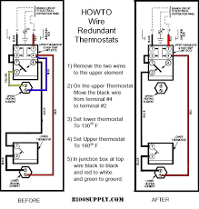 wire thermostats how to wire water heater thermostat on water heater wiring diagram
