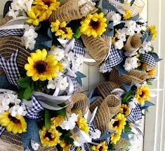 front door decor summerWeekend FLASH SALE Sunflower Wreath Summer Front Door Decor