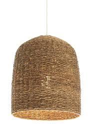 basket light pendants basket fixture crate barrel wicker pendant
