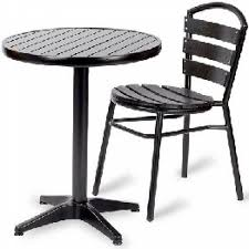 outdoor bistro tables chairs set black