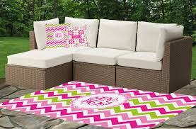 pink green chevron indoor outdoor rug personalized