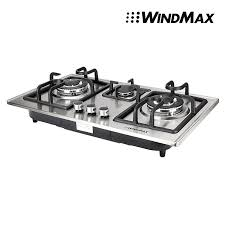 built in stove. 28 In Silver Stainless Steel 3 Burner Built-In Stove NG Gas Cooktop Cooker 8350W Built .
