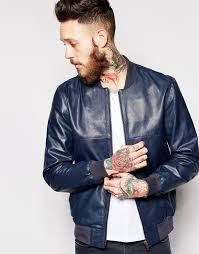 asos brand leather er jacket