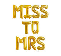 16 miss to mrs gold mylar letter balloons bride bridal party balloon party wedding centerpieces table decoration events 0 0 width=720&height=960