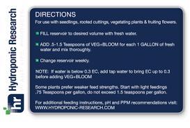 Floraflex Nutrients Feed Chart Veg Bloom Ro Soft Base Nutrient 100 Lb