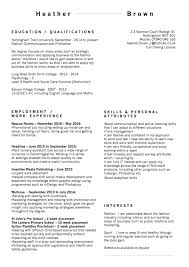 my cv s heather brown skills based more creative design focusing less on recent job roles and qualifications and more on my skills and interests