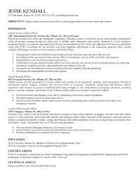 Unarmed Security Guard Resume Updated Unarmed Security Guard Resume