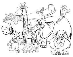 Pagina Da Colorare Di Animali Da Safari Dei Cartoni Animati