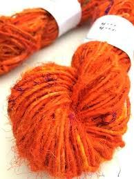 sari silk yarn blaze orange waste knitting rugs australia how to make tassel necklace fabric uk