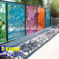 decorative metal fence panels. Delighful Decorative Cnc Aluminum Decoration Fence At Outdoor Garden Buy Decorative  Metal Panels With R
