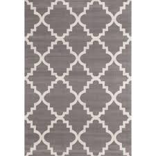 world rug gallery contemporary modern trellis gray  ft  in x