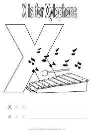 Kindergarten Reading Printable Worksheets Free Letter X For ...