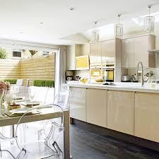 open plan kitchen extension idea neutral modern kitchen