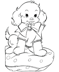 printable puppy coloring pages puppy love