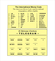 Free 7 Sample Morse Code Chart Templates In Pdf