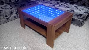 Infinity Coffee Table Infinity Mirror Coffee Table Self Made Youtube