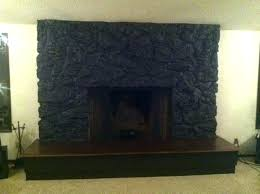 lava rock fireplaces rock fireplace makeover fireplace makeover faux stone the lettered