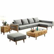 Sofa set Leather 1801b64 Modern Living Room Ash Wood Solid Wood Sofa Set Simple Style Fabric Sofa Walmart 1801b64 Modern Living Room Ash Wood Solid Wood Sofa Set Simple Style