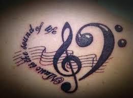 Motiv Tetovani Hudba 5jpg Motivy Tetování Vzor Tetování