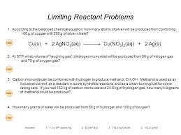 chemical equation problems talkchannels balancing