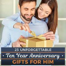 10 year anniversary gifts for him