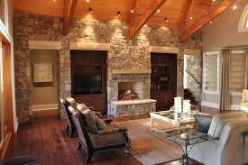 textural sandstone living room design