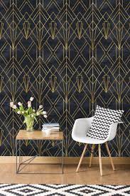 Black Geometric Peel & Stick Wallpaper ...