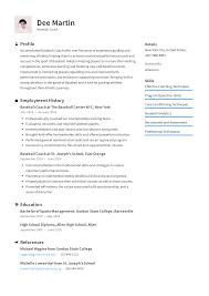Analytics Resumes Baseball Coach Resume Templates 2019 Free Download Resume Io