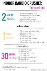 printable workout indoor cardio crusher weight loss tips goglive