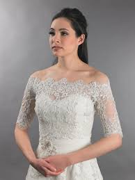 Off Shoulder Bridal Bolero Wedding Jacket Dot Lace Wj010 Bridal