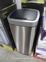 Sensible Eco Living Motion Sensor Trash Can 30 Gallon Kitchen Trash Can  Walmart 30 Gallon Kitchen Trash Can Walmart
