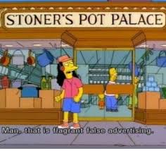 best false advertising ideas feminism meaning 25 signs from the simpsons that are too punny for their