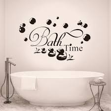 bath time wall art quotes removable vinyl wall stickers duck bubble lettering kids decal diy f749 on lettering wall art quotes with bath time wall art quotes removable vinyl wall stickers duck bubble