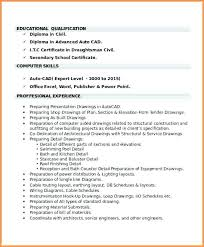 Architectural Drafter Resume Civil Drafter Resume Engineer Sample Resume Engineer Sample Resume 17