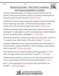 Math Word Problems for Kids... word problems fractions 1 captain salamanders journey. Captain Salamander's Journey · Captain Salamander's Journey answers