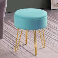 round storage ottoman footrest vanity