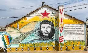 che guevara tour travel trans americas journeytrans  ernesto che guevara mural vallegrande 50th anniversary che s death