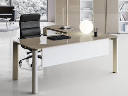 l shaped lacquered crystal office desk iulio l shaped office desk by las
