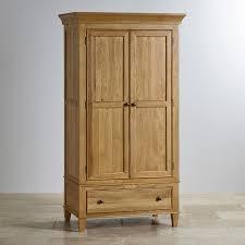 classic natural solid oak small armoire oak furniture land