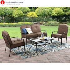 best of 4 piece patio conversation set and mainstays 4 piece patio conversation set seats 4