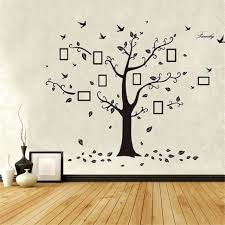 family tree photos on wall removable family tree wall stickers large photo pictures frame wallpaper home