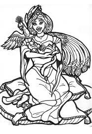 Disegno Da Colorare Principessa Pavone Cat 6021 Images