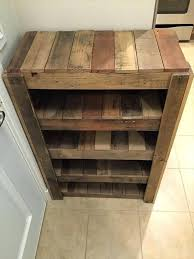 your own wooden shoe rack build